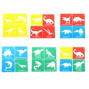 20x Dinosaur Stencils Templates Reusable Plastic Craft Drawing Painting Templ YH