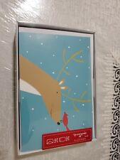 """16 HALLMARK CHRISTMAS CARDS """"Reindeer Face"""" Seasons NEW"""