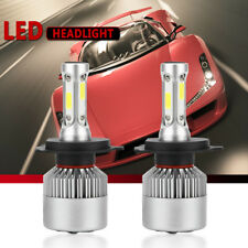 2XS2 H4 9003 HB2 LED Headlight Bulb Conversion Kit High Low Beam 6000K 7600LM