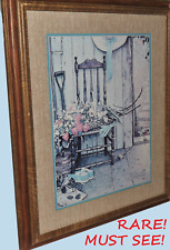 Norman Rockwell RARE Hand Colored Halftone Relief Lithograph
