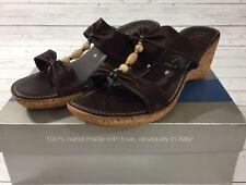 NIB Italian Shoemakers Women's Cork Wedge Heel Sandal Style:Depth 8 M