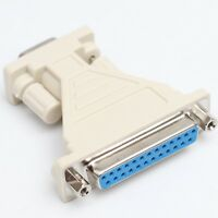 25 Pin DB-25 Female to 9 Pin DE-9 Female Serial Interface Adapter