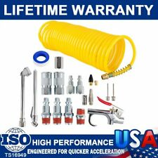 "Hot Air Compressor Accessory Kit 1/4"" Npt Air Tool Kit 25Ft Coil Hose-Wynnsky"