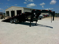 Kerr Bilt 26 Gooseneck Hydraulic Tilt With Sliding Axle Container Trailer
