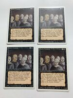 4x Vintage Playset of SCATHE ZOMBIES MTG 3rdRevised Magic the Gathering