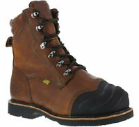 Iron Age Mens Brown Leather Met Guard Work Boots Thermo Shield Comp Toe 9.5 M
