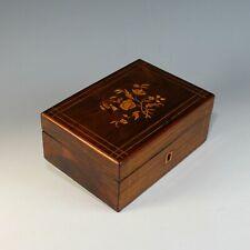 Antique Charles X French Inlaid Wood Dresser Box