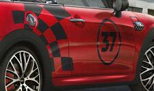Original MINI JCW Seitenstreifen-Set Racing Schwarz John Cooper Work 51142365018