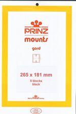 Prinz Scott Stamp Mount 181/265 BLACK Background Pack of 5