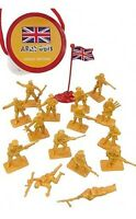 ARMY GUYS Toy Soldiers WWII British Infantry 17 Plastic Figures 1/32 FREE SHIP