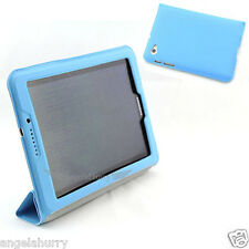 Blue Premium Slim PU Leather Case For Samsung Galaxy Tab 7.7 P6800 P6810