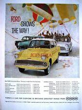 1960 Ford 'Anglia' & Range of Cars Advert #2 - Original Auto Print Ad