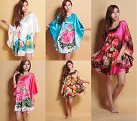 Sleepwear Robes Pyjamas Bat shirt Satin Nightdress Orienta Nightwear Nightgown