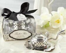 Tea For Two Teapot Tea Infuser Bridal Shower Wedding Tea Party Favors