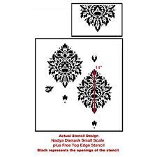 Nadya Damask Stencil - SMALL - DIY Reusable Stencils - Better Than Wallpaper!