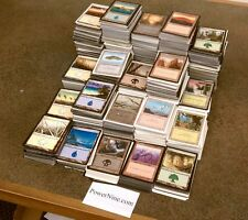 Collection 100 Basic Land - MtG Magic 20 Island Swamp Plains Mountain Forest