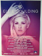 ELLIE GOULDING 2014 Australian Tour Poster A2 Lights Halcyon Burn Explosions NEW