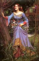 "Oil painting beauty fairy Ophelia by John William Waterhouse in landscape 36"""