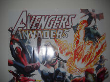 2008 AVENGERS AND INVADERS POSTER 24 X 36  VF/NM