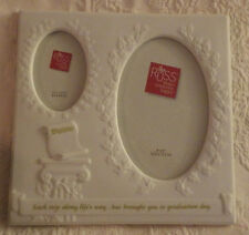 """Russ Diploma Porcelain Picture Frame Holds 2.5""""x3.5"""" & 4""""x6"""" Photo New 8 1/2"""""""