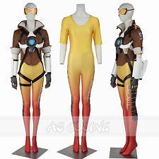 Overwatch Tracer Lena Oxton Women Cosplay Costume Full Set Halloween Costume