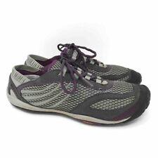 Merrell Pace Dark Shadow Running Shoes Gray Purple Barefoot Minimalist Lace Up 7