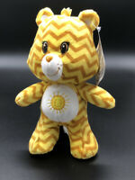 "Kellytoy Care Bear Sunshine Chevron Zig Zag Plush Stuffed Toy Care Bear 7"""