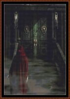 HAUNTED DOORWAY ~ cross stitch pattern PDF (point de croix) [fantasy]