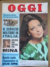 OGGI n°9 1970 Ira Furstenberg Lollobrigida Moira Orfei Mina  [G801]