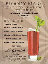 Cocktail Bloody Mary, stile retrò in metallo Insegna/Placca, pub bar cucina shabby chic regalo