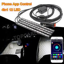 12 LED Interior Foot Atmosphere Lamp Neon Light Strip OF Phone App Music Control