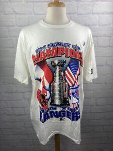 NWT Vintage 1994 Starter Stanley Cup Champions New York Rangers T Shirt STARTER
