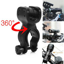 360° Swivel Domire Bicycle Flashlight LED Torch Mount Holder Cycling Clip Clamp