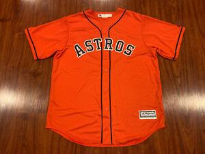 Majestic Cool Base Men's Houston Astros Orange Jersey Large L Baseball MLB