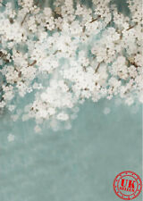 BLUE WHITE FLOWER BABY BACKDROP BACKGROUND VINYL PHOTO PROP 5X7FT 150X220CM