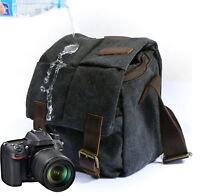 Canvas DSLR SLR Vintage Camera Sling Backpack Shoulder Carry Bag for Canon Sony