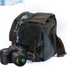 Canvas Camera Case Shoulder Bag for Canon Nikon-Sony SLR DSLR Waterproof