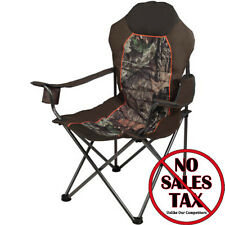 Folding Camp Chair Padded Outfitter Camo Cup Holder Hunting Camping Fishing