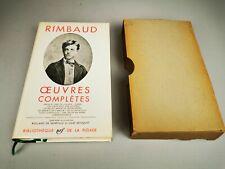 La Pléiade - RIMBAUD - Œuvres complètes - 1963