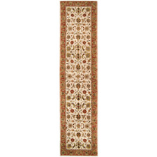 3x12 Runner Traditional Oriental Plush Hand Tufted Wool Rust Area Rug