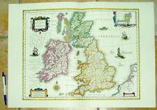 Großbritannien Britanniae alte Landkarte Reproduktion 60 x 43 cm