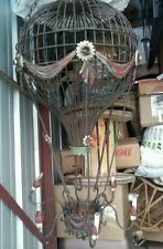 """Very Large Metal Hot Air Balloon Chandelier Light Vintage 58"""" High  Unique"""