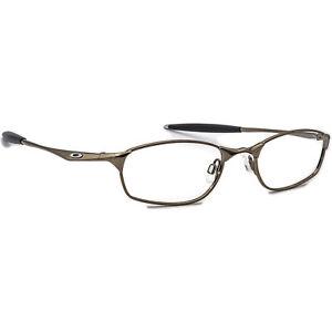 Oakley Eyeglasses 11-732 Straight Line 4.0 Black Chrome Metal Frame 52[]20 140