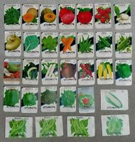 31 DIFFERENT OLD VEGETABLE SEED PACKETS    UNUSED    GREAT FOR FRAMING  NO SEEDS