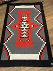 Handwoven Navajo Inspired Design Rug; Acrylic; 4x6; Black,Red,Grey and White