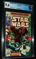 STAR WARS #3 1977 Marvel Comics CGC 9.6 NM+ White Pages