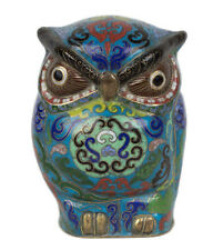 La Chine 20. JH Grand hibou-A Chinese Cloisonné Enamel Owl Statuette chinois cinese