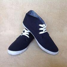 WORN ONCE Navy Men's Lace up Cedar Wood State High Cut Sneaker UK 9 EUR 43