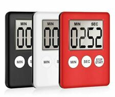 Magnetic LCD Digital Kitchen Timer Count Down Cooking Clear Loud Alarm Stopwatch