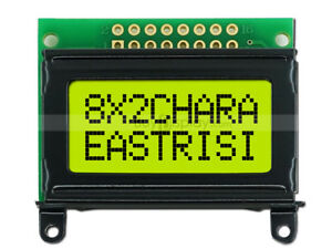 8x2 Character LCD Module Display w/Tutorial,Bezel,HD44780 Controller,Backlight